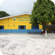 frente da escola Pedro Moleta