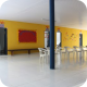 Interior da escola Pedro Moleta
