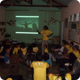 Palestra sobre a relação da Capoeira praticada no Brasil e a Cultura na África.